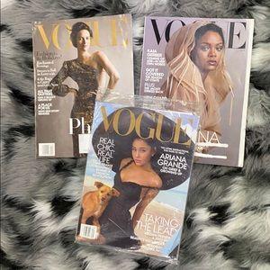 Vogue Magazine Bundle August November December 19